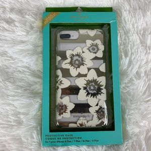 New Kate Spade iPhone Case Floral Striped
